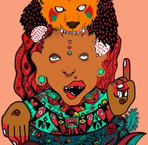 Tótem precolombino. A Illustration, and Editorial Design project by Raquel Requejo         - 06.08.2016
