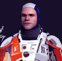 Matt Damon 3D process. Work in progress. #Zbrush. Um projeto de 3D e Design de personagens de gesiOH         - 16.08.2016