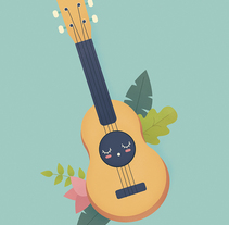 Ukelele Love. A Illustration project by Eva Mez         - 19.08.2016