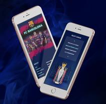 DataSoccer / App. Un proyecto de Diseño, Diseño interactivo y Multimedia de oriol  civico puigrodon - 29-04-2016