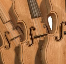 Violines - Modelo 3D. A 3D, Architecture, and Product Design project by Alejandro Gallego Cánovas         - 31.10.2012