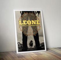 Diseño cartel concierto Leone. Un proyecto de Diseño gráfico de Emilio Gutierrez Rodriguez - Sábado, 06 de septiembre de 2014 00:00:00 +0200