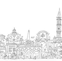 Illustrazione per prodotto. A Illustration, Architecture, Fine Art, Product Design, and Street Art project by Lele Gastini         - 07.03.2016