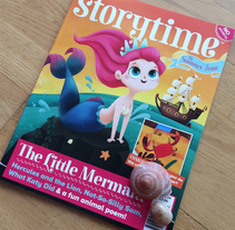 Storytime Magazine, The Little Mermaid. A Illustration, Character Design, and Editorial Design project by Marta García Pérez         - 11.09.2016
