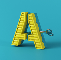 The Alphabet is your Playground.. Un proyecto de Diseño, Motion Graphics, 3D y Animación de Marc Urtasun - 12-09-2016