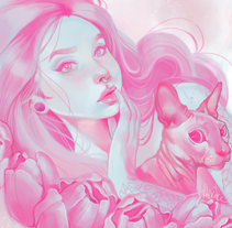 pink in love. Un proyecto de Ilustración, Bellas Artes y Comic de Valeska Polo Gamarra - 26-09-2016