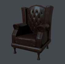 chesterfield chair . A 3D, and Game Design project by Carolina Cabrero - 29-05-2016