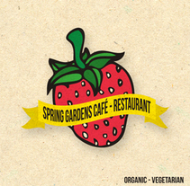SPRING GARDENS  CAFÈ/RESTAURANT. A Design&Illustration project by Jimmie Love - 29-06-2011