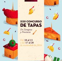 Concurso de Tapas - Poster. Un proyecto de Ilustración, Diseño de personajes y Diseño gráfico de Fabiola Correas - 04-10-2016