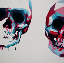 Colorskull. A Illustration, and Graphic Design project by sergio Ariño         - 18.10.2016