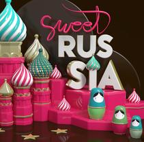 Sweet Russia. Un proyecto de Motion Graphics, 3D, Animación, Dirección de arte y Diseño gráfico de Marina  - 23-10-2016