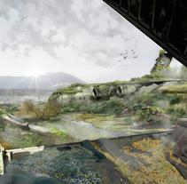 Matte-Painting, Morón de la Frontera. 2016. A Illustration, L, scape Architecture, Lighting Design, and Set Design project by Jesús Romero García         - 09.11.2016