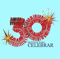 ¡30 motivos para celebrar!. Um projeto de Design, Ilustração e Design gráfico de Michelle Bishop         - 26.10.2016