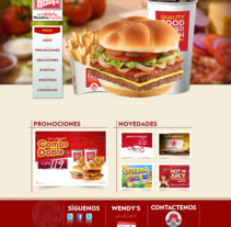 Pagina web - Wendys. A Web Design project by Josue Muñoz Echeverría         - 02.11.2016