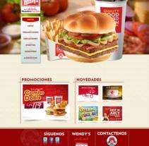 Pagina web - Wendys. Un proyecto de Diseño Web de Josue Muñoz Echeverría         - 02.11.2016