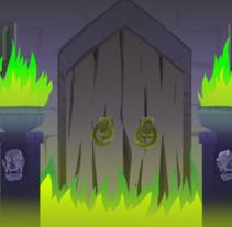 BG design Video-game combat - Enchanted castle+ platform. Un proyecto de Animación, Bellas Artes, Diseño de juegos y Comic de Marta sanchez         - 30.04.2016