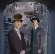 Ilustración digital: Sherlock. Un proyecto de Ilustración y 3D de Bonaria Staffetta         - 03.10.2016