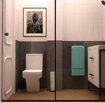 Infografía Baño. A 3D&Interior Architecture project by Violeta López Andrés         - 10.11.2016