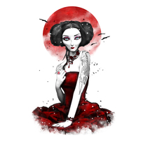 Red dress. A Illustration, Character Design, and Graphic Design project by Franz Simons - 13-11-2016
