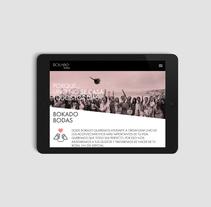 Bokado Bodas, sitio web. Un proyecto de Diseño, Diseño gráfico y Desarrollo Web de TGA +  - 15-11-2016