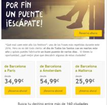 Vueling - Copywriting. A Cop, and writing project by Aurelio Medina         - 16.05.2015