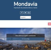 Mondavia.co. Um projeto de Web design de Pau Rodellino         - 07.07.2016