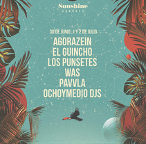 Imagen Sunshine Suances Festival. A Art Direction, and Collage project by Fran Rodríguez - 07-12-2016