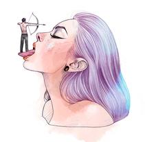 Purple Series. Un proyecto de Ilustración y Bellas Artes de Ina Stanimirova  - 06-12-2016