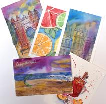 Postcards. Um projeto de Design e Artes plásticas de Yana Makhlina         - 21.12.2016