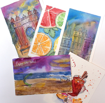Postcards. A Design, and Fine Art project by Yana Makhlina         - 21.12.2016