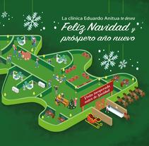 Felicitación Navideña Clínica Eduardo Anitua. Um projeto de Ilustração, Artes plásticas e Design gráfico de Nadia Beltran de Lubiano Santamaria         - 19.12.2016