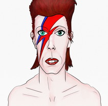 Bowie. A Illustration project by Franz Simons - 09-01-2017