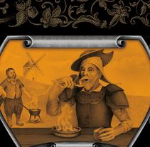 Ilustración para Crema Castellana de Productos Manchegos.. A Illustration, and Graphic Design project by Dynamai Branding  - 11-01-2017