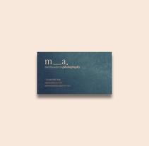 m_a.. Un proyecto de Diseño, Dirección de arte, Br e ing e Identidad de Sergi Ferrando - 18-01-2017
