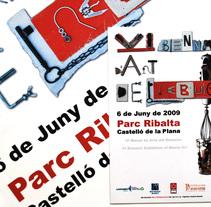 "Cartel ""VI Biennal d'Art del Rebuig"". A Graphic Design project by Enro         - 24.01.2009"