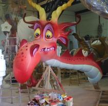 Fallas - Torre del Dragón . Un proyecto de Artesanía, Bellas Artes y Escultura de Tian Mora - Lunes, 14 de marzo de 2016 00:00:00 +0100