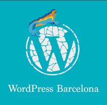 Careta base WordPressBcn 2016. Um projeto de Design, Br, ing e Identidade e Design editorial de Adrià Salido Zarco         - 01.02.2017