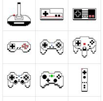 8-bit Evolution of Video Grame Controllers. Un proyecto de Diseño, Ilustración y Diseño gráfico de Patricia Recuero         - 31.01.2017