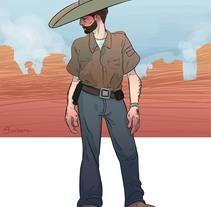 Vaquero. Un proyecto de Ilustración de Luana De Souza Sinclair - 06-02-2017
