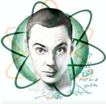 Jim Parsons, Sheldon Cooper. Un proyecto de Ilustración de Ziortza Goicoechea Fernandez - 22-02-2017