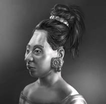 Reconstrucción artística forense del rostro de una adolescente maya sacrificada y un joven de cuerpo entero. Un proyecto de Bellas Artes de Érika Meijide Jansen         - 12.01.2017