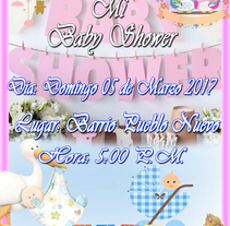 Tarjetas Baby Shower. A Design project by onpa_1730 - 27-02-2017