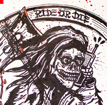Skateboard • Ride or Die #Skateart. A Design, Illustration, and Art Direction project by Matdisseny (marc argelich trigo) - 28-06-2013