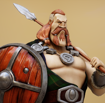 Scottish Warrior. A 3D, and Character Design project by Candido Romon Diaz         - 07.03.2014