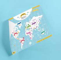 World Map of cultures for BicKids. Un proyecto de Diseño e Ilustración de Almu Muñoz - 01-01-2017