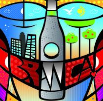 Afiche Fernet Branca. A Graphic Design project by Bruno Davoli         - 24.03.2017