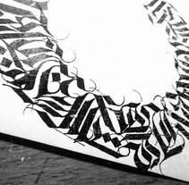 Caligrafía II. A Design, Illustration, Graphic Design, T, pograph, Writing, Calligraph, Street Art, and Lettering project by Rubén Ganado González         - 02.04.2017