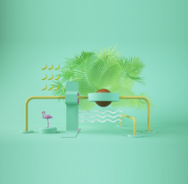 TROPICAL SETS. A Illustration, 3D, Art Direction, and Set Design project by Eduardo Pérez Borrachero         - 05.04.2017