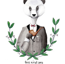Panda.. A Illustration, Animation, and Character Design project by Sandra  Fernández Dorado         - 18.04.2017