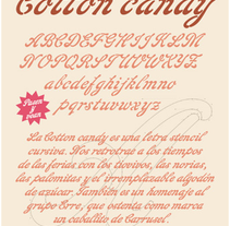 Cotton Candy Typeface with Ricardo Rousselot. A T, and pograph project by Ana Margarita Martinez Roa - 12-05-2010